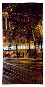 Nights, Lights Downtown Sj Bath Towel