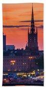 Nightsky Over Stockholm Bath Towel