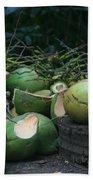 Niu Hawaiian Coconuts Hooululahui Kahekilinui Wailuku Bath Towel