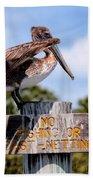 No Fishing Baby Pelican Hand Towel