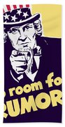 No Room For Rumors - Uncle Sam Hand Towel