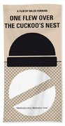 No454 My One Flew Over The Cuckoos Nest Minimal Movie Poster Hand Towel