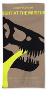 No672 My Night At The Museum Minimal Movie Poster Bath Towel