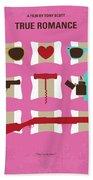 No736 My True Romance Minimal Movie Poster Bath Towel