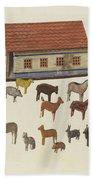 Noah's Ark And Animals Bath Towel
