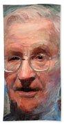 Noam Chomsky Portrait 1059 Bath Towel