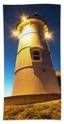 Nobska Light Falmouth Ma Cape Cod Window Shadow Bath Towel