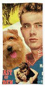 Norfolk Terrier Art Canvas Print - East Of Eden Movie Poster Bath Towel