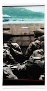 Normandy Soldiers Bath Towel