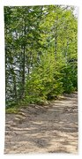 North Country Trail In Pictured Rocks National Lakeshore-michigan  Bath Towel