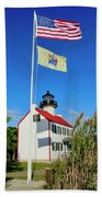 North Wind At East Point Light Bath Towel