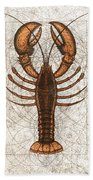 Northern Lobster Bath Towel