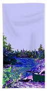 Northern Ontario River Bath Towel
