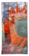 Not Another Sunflower Bath Towel by Myrna Migala