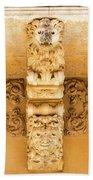 Noto, Sicily, Italy - Detail Of Baroque Balcony, 1750 Bath Towel