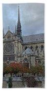 Notre Dame Cathedral In Paris, France Bath Towel