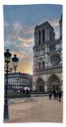 Notre Dame Cathedral Paris 2.0 Bath Towel