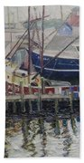 Nova Scotia Boats At Rest Bath Towel