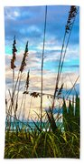 November Day At The Beach In Florida Bath Towel
