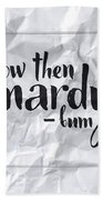 Now Then Mardy Bum Hand Towel