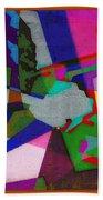 Nu Wall Graffiti Horns In The Landscape Of Sound/tony Adamo Bath Towel