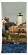 Nubble Light House Beach View Bath Towel