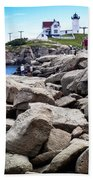 Nubble Lighthouse  Bath Towel