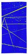 Nuclear Particle Tracks Bath Towel