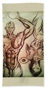 Nude Sketch 49 Bath Towel