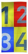 Numbers Bath Towel