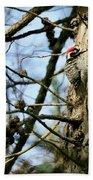 Nuttalls Woodpecker  Bath Towel