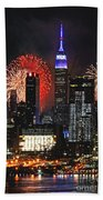 Nyc 4th Of July Fireworks Hand Towel