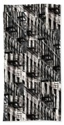 Nyc Fire Escapes Bath Towel
