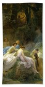 Nymphs Listening To The Songs Of Orpheus Bath Towel