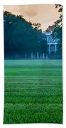 Oak Alley Plantation In Profile Bath Towel by Chris Coffee