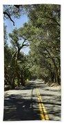 Oak Trees Along Live Oak Canyon Road Bath Towel