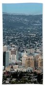 Oakland California Skyline Bath Towel