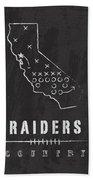 Oakland Raiders Art - Nfl Football Wall Print Bath Towel by Damon Gray
