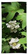 Oakleaf Hydrangea Floral Bath Towel