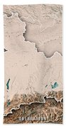 Oberbayern Regierungsbezirk Bayern 3d Render Topographic Map Neu Bath Towel
