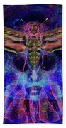Ocean Earth Plastic Man Hand Towel by Joseph Mosley