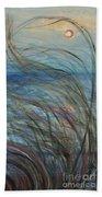 Ocean Grasses In The Wind Bath Towel