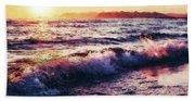 Ocean Landscape Sunrise Bath Towel