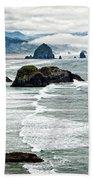 Ocean Rocks Off The Oregon Coast Bath Sheet