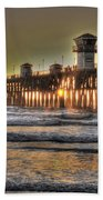 Oceanside Pier Hdr  Bath Towel