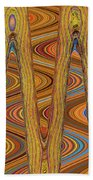 Oceanside Surfer Abstract. Hand Towel
