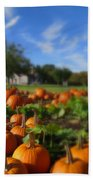 October Postcard  Bath Towel