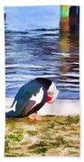 Odd Looking Duck In Swansboro Nc Bath Towel