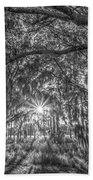 Odessa Sunrise -black And White Hand Towel