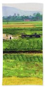 Off The Beaten Track Vietnam Viewed Through Train Window Filters  Bath Towel